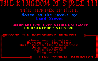 The Kingdom of Syree III: The Depths of Hell