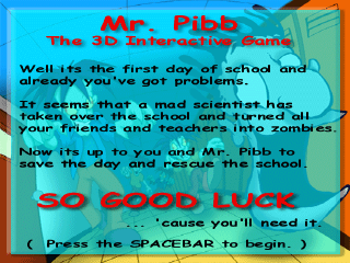 Mr. Pibb - The 3D Interactive Game