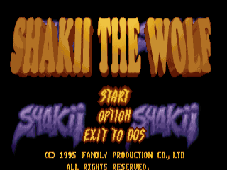 Shakii the Wolf