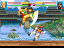 Taishi Ci uses his Invincible Kick to knock Zhang Liao out of the air (image by Super Fighter Team)
