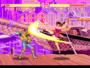 Phoenix smashes King Tai Chi with her Turning Leg Slash (image by Super Fighter Team)