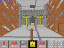 This room's layout is a reference to the first level of DOOM (image by MrFlibble)